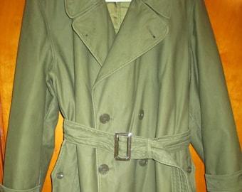 1950s US MILITARY COAT, Vintage Army Coat, Vintage Military Overcoat