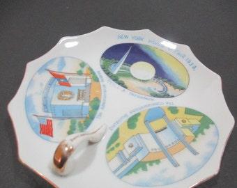 1939 WORLD'S FAIR Memorabilia Dish, 1939 World Fair Collectible, 1939 World Fair Dish Made in Japan, 1939 World Fair