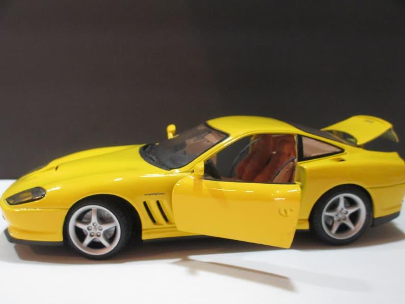 MAISTO FERRARI 550 Maranello Yellow, Maisto Ferrari Model Car, Ferrari 550  Model Car, Ferrari 550 Maranello