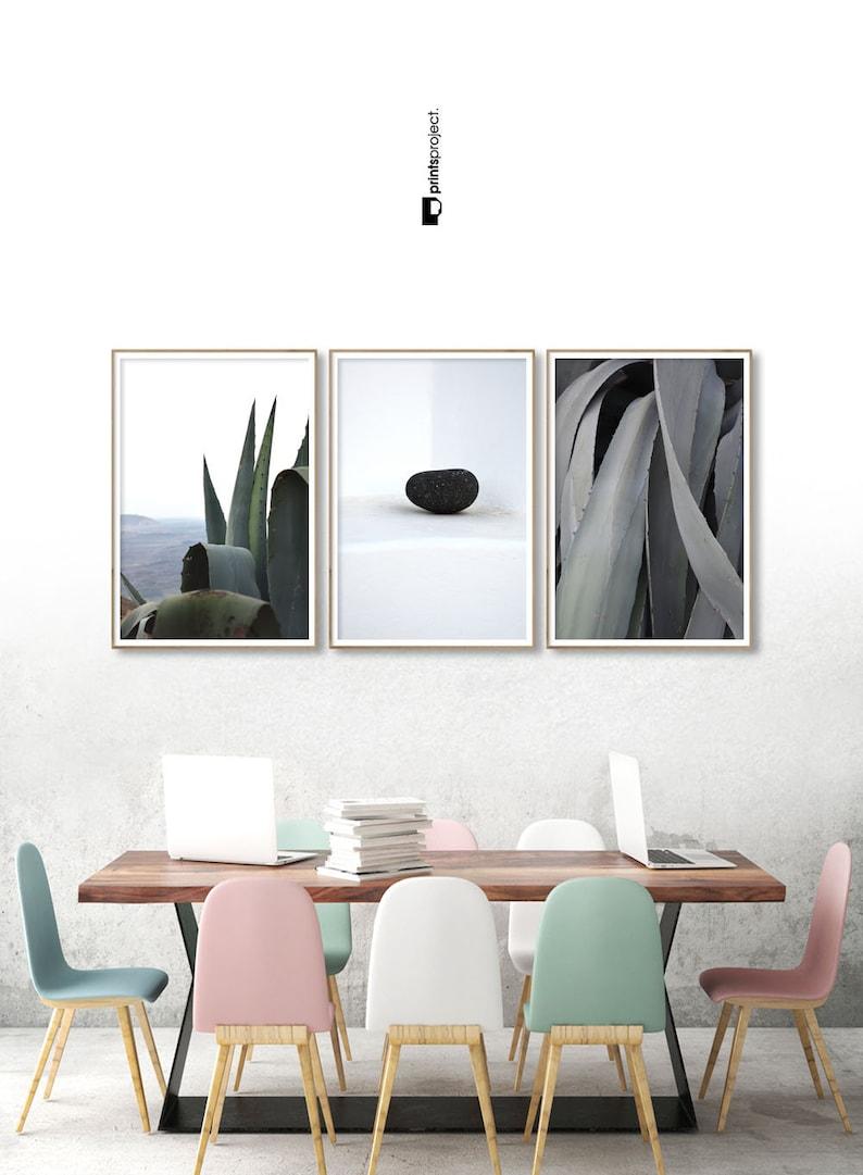 Cactus Botanical Set 3 Piece Wall Art Living Room Decor