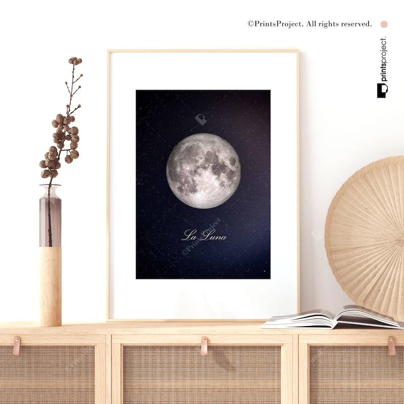 Full Moon Print La Lune Poster La Lune Wall Art Moon Print Full Moon Poster Full Moon La Luna Print Moon Poster La Luna Printable