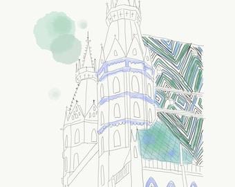 Stephansdom-Illustration