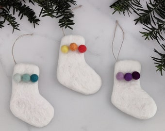 Christmas Ornaments/Christmas stocking/Rainbow Christmas Tree Ornament/colorful Ornaments/Christmas Tree/Holiday Decor/childproof ornament