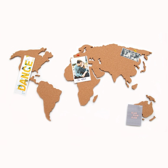 World map cork board etsy image 0 gumiabroncs Images