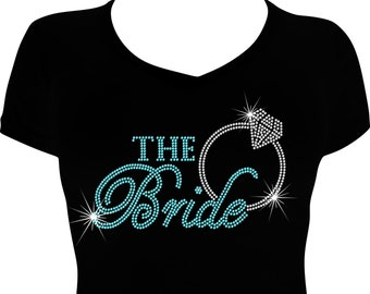 Mother of the Groom Bling Bride Rhinestone Iron on T-Shirt Pick Size S-3XL