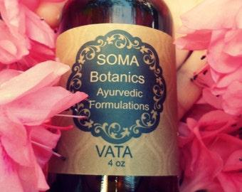 Vata Dosha (dry skin), 4 oz: Nourishing Body Oil (Abhyanga)