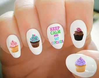 Cupcake Nail Art Etsy