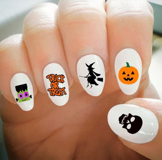 Nail Decals, Halloween Nail Decals, Water Transfer Nail Decals, Nail  Tattoo, Fashionable Nail Art, Custom Nail Decals