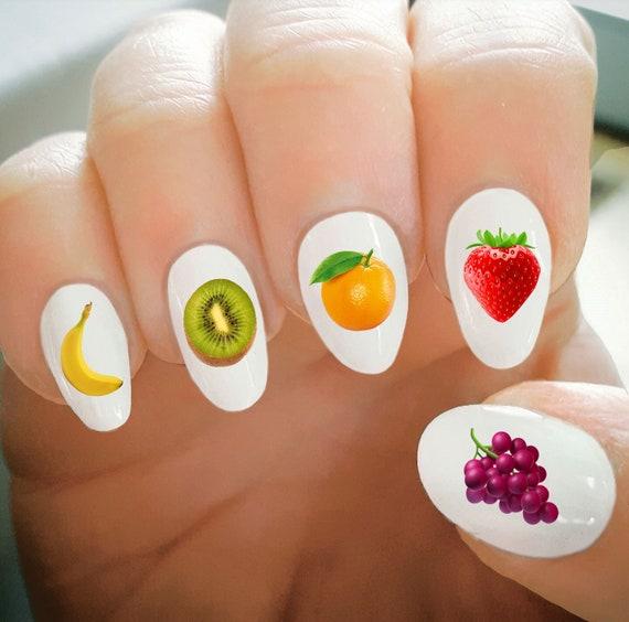 Nagel Abziehbilder Obst Aufkleber Wasser Transfer Nagelabziehbilder Nail Tattoo Modische Nail Art Benutzerdefinierte Nagelabziehbilder