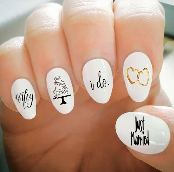 Nail Decals, Wedding Nail Decals, Water Transfer Nail Decals, Nail Tattoo,  Fashionable Nail Art, Custom Nail Decals