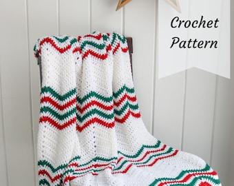 Modern Holiday Throw / Crochet Pattern / Christmas / Throw / Decor / PDF Download