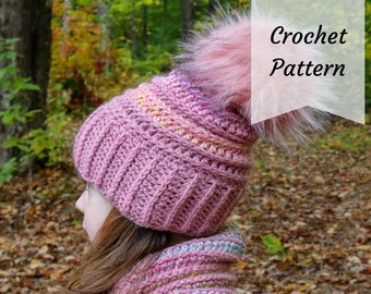 Crochet PATTERN Hat Cowl / Child / Preschool / Winter Hat / Cowl Set / PDF Download