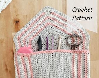 chic crochet clutch / crochet pattern / crochet / bag / organizer / clutch /