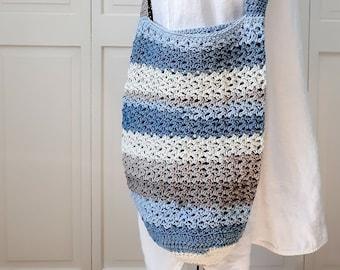 Crochet Pattern (PDF Download) / market / boho / beach / tote / reusable grocery / bag / diaper /crochet / tote