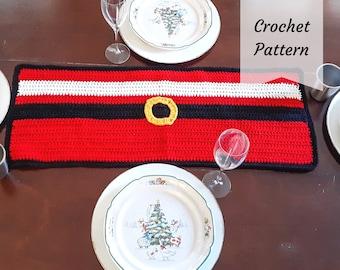 Santa Table Runner / Crochet Pattern / Santa / Christmas / Table / Decor / PDF Download