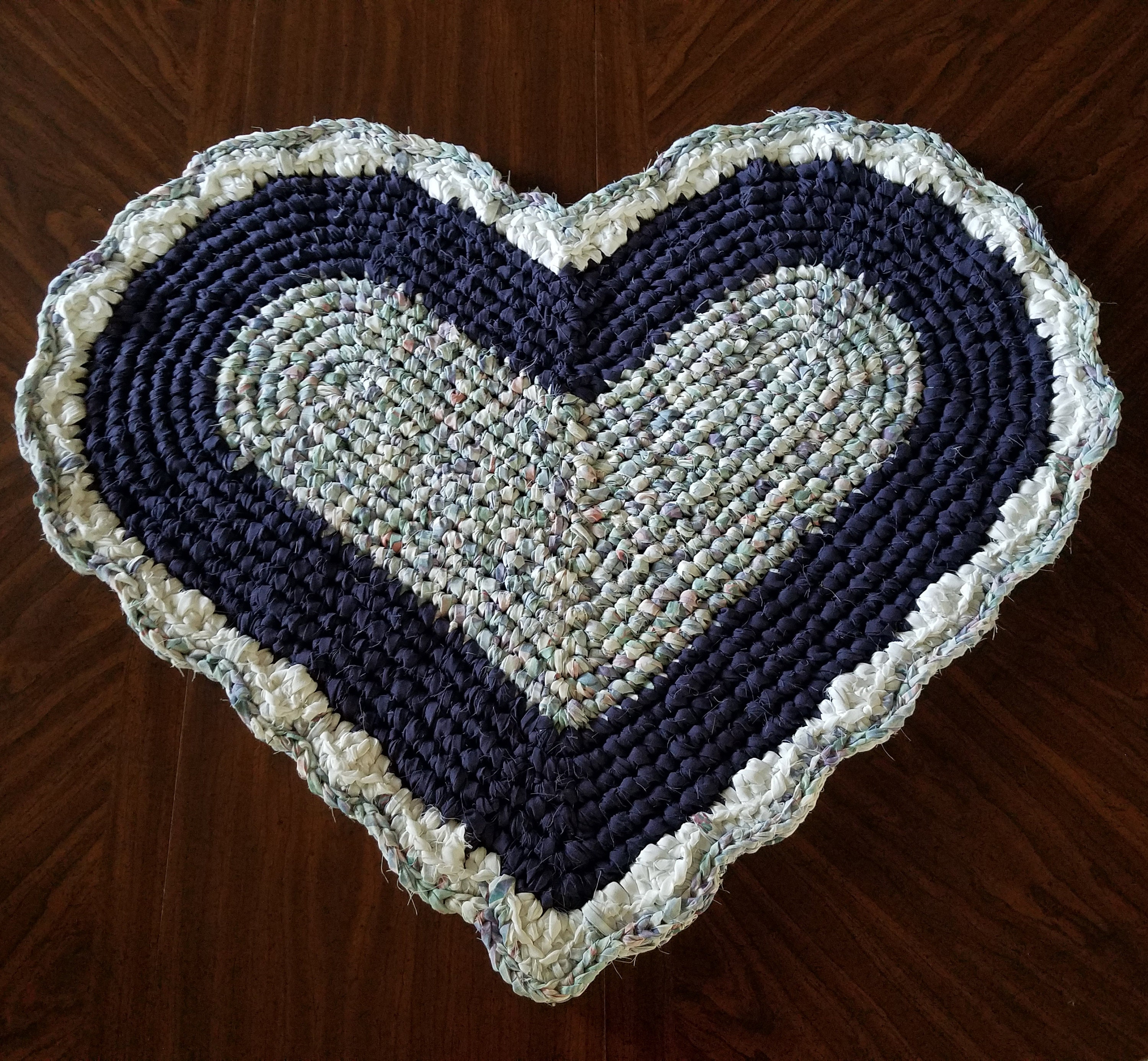 Purple Heart Rag Rugs 33 Fabric Heart Rugs Cottage Chic Etsy