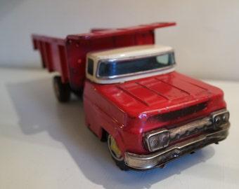 Vintage 60s TM Japan friction toy-dumptruck