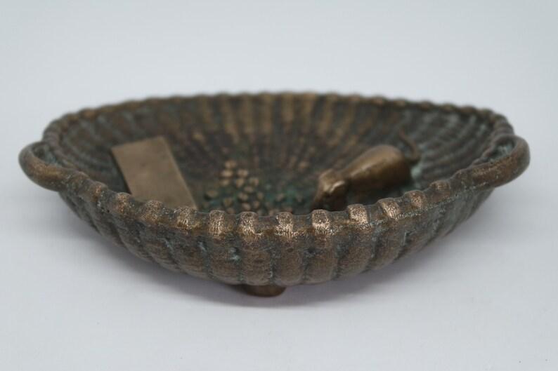 Art Nouveau bronze cuppin trayashtray France 1920s
