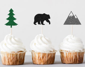 Woodland Cupcake Toppers, Birthday Party Decorations