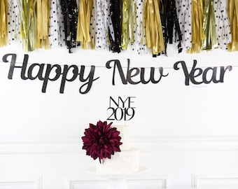 happy new year banner new years eve banner new years eve party decor holiday party decor nye party decor nye 2019