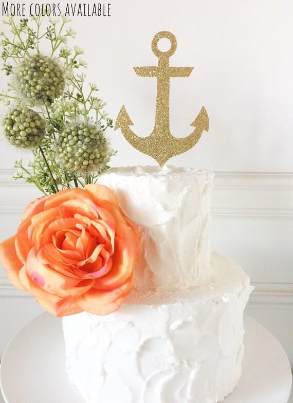 897aedc067c6 Nautical Cake Topper Anchor Cake Topper Nautical Birthday