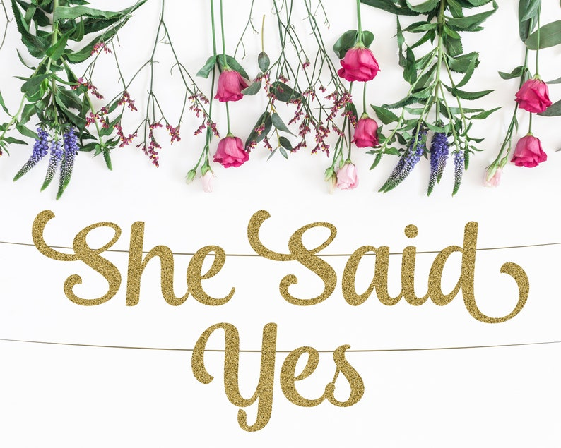 Bride to Be Engagement Party Decor Bridal Shower Decor Bridal Shower Banner Miss to Mrs She Said Yes Banner Bachelorette Banner