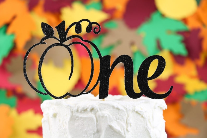 Stupendous Pumpkin First Birthday Cake Topper One Topper Fall Birthday Etsy Funny Birthday Cards Online Elaedamsfinfo