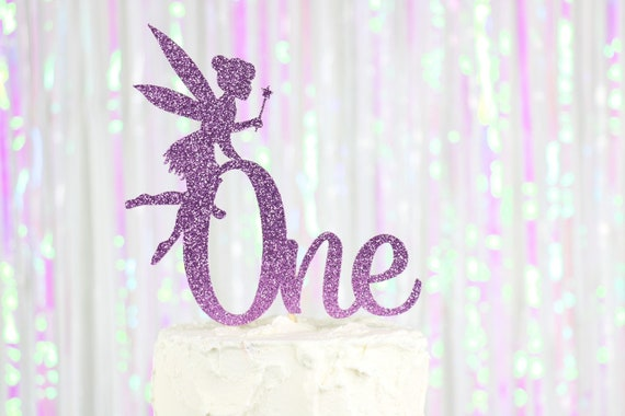 fairy  tinkerbell ..pink ombre cake topper