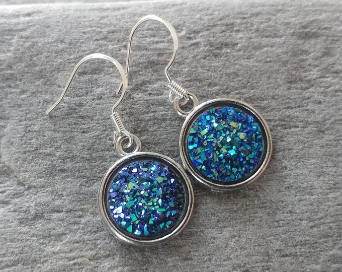 Darker Druzy Earrings, 4 Color Options, 12  Settings Available, DD-E-Please call for wholesale prices