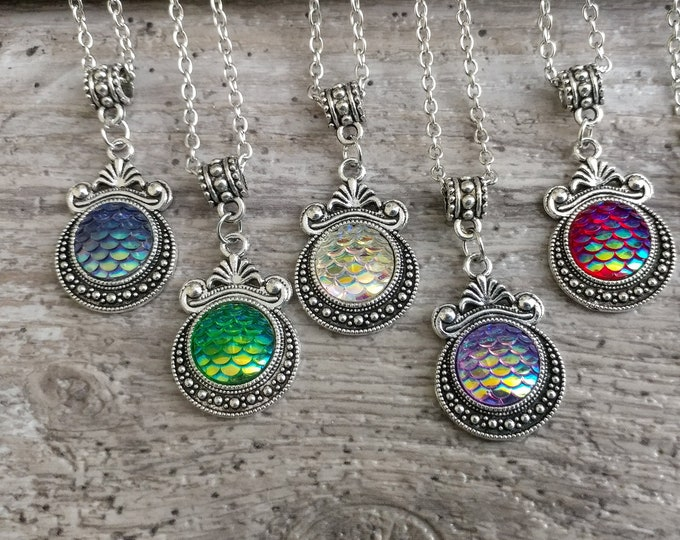 Kids Jewelry, Mermaid Medallion Necklace, KN-2- Please call for wholesale prices