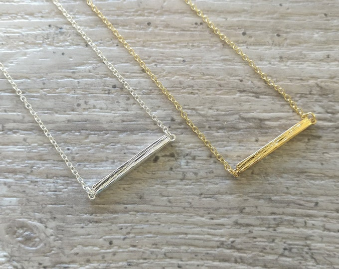 Brushed Bar Necklace, MOQ 3