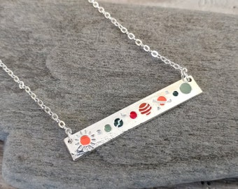 Silver Lunar Necklace, MOQ 3