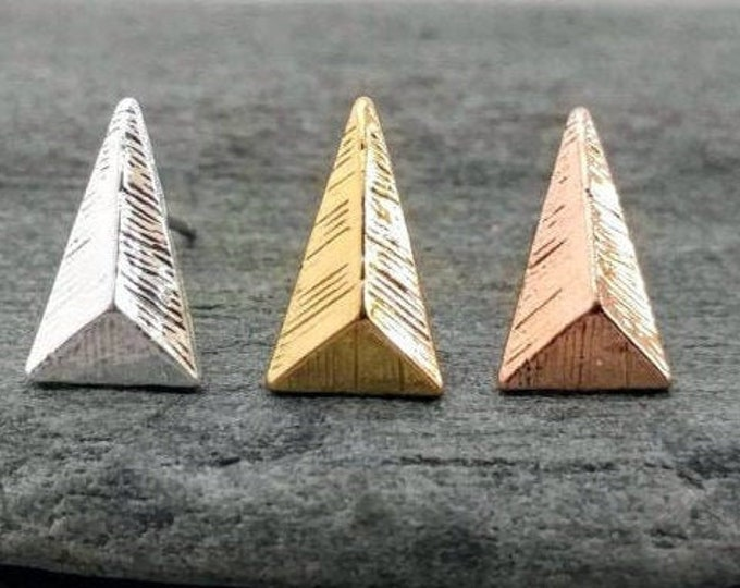 Boho Chevron Studs, Available in Silver, Gold & Rose Gold, Listing Price Reflects MSRP
