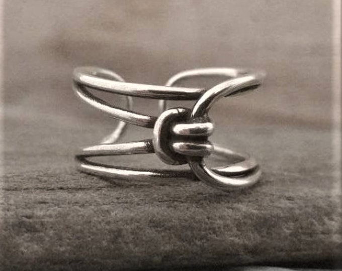 Intricate Silver Knot Ring, Call for Code to Unlock Wholesale Pricing