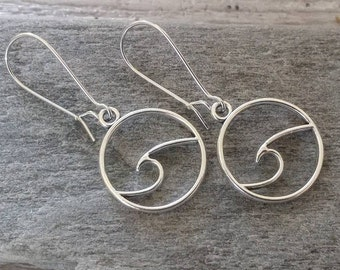 Minimalist Silver Wave Earrings, List Prices reflect MSRP