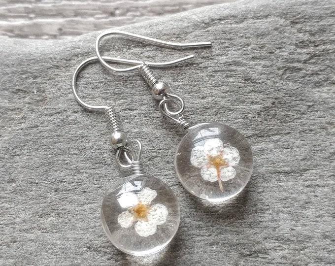 Pressed Flower Earrings, MOQ 3