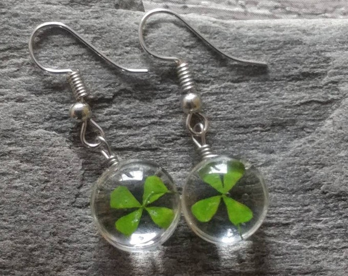 Lucky 4 Leaf Clover Earrings, PF-E4- Please call for wholesale pricing