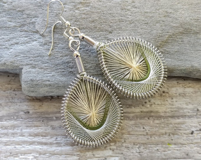 80's String Earrings, BOHO-E11- Please call for wholesale pricing