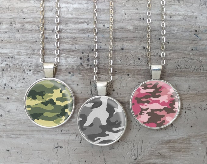 Camo Necklace, Silver or Bronze, CAMO-N- Please call for wholesale prices
