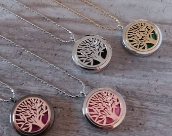 Tree of Life Aromatherapy Locket, AL-TREE