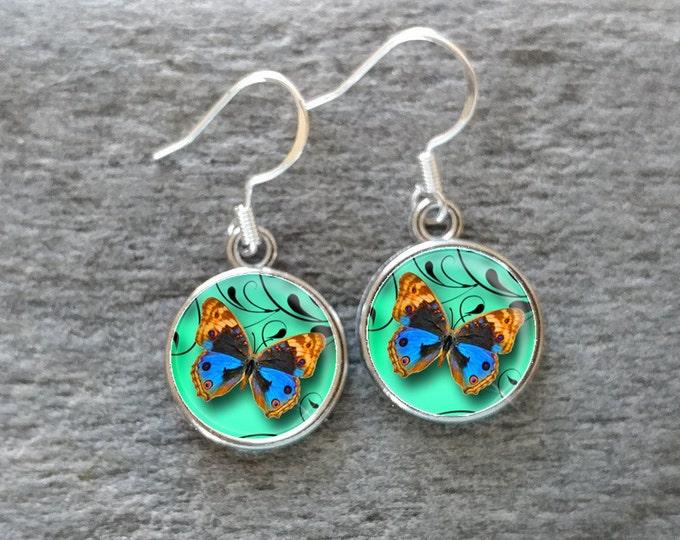 Butterfly Earrings, Handmade, Multiple Images, 12  Settings Available, BF-E