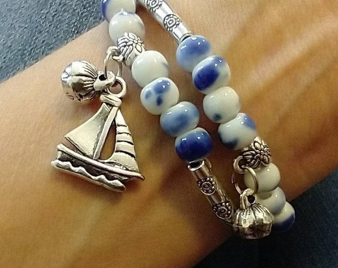 Sailboat Bracelet Set, Summer Bracelets, List Price Reflects MSRP
