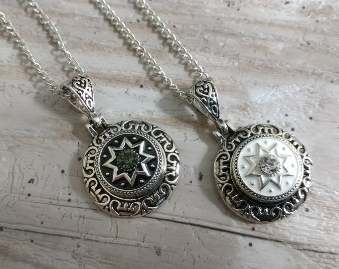 Medallion Snap Necklace-SN-6- Please call for wholesale pricing