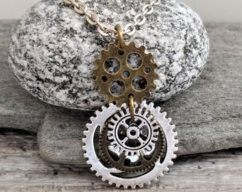 Steampunk Gear Choker, Steampunk Choker, Steampunk Necklace, Steampunk Jewelry Set