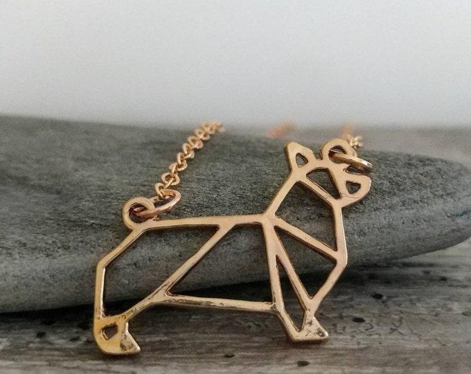 Corgie Necklace, Minimalist Dog Necklace, Dog Lover Necklace