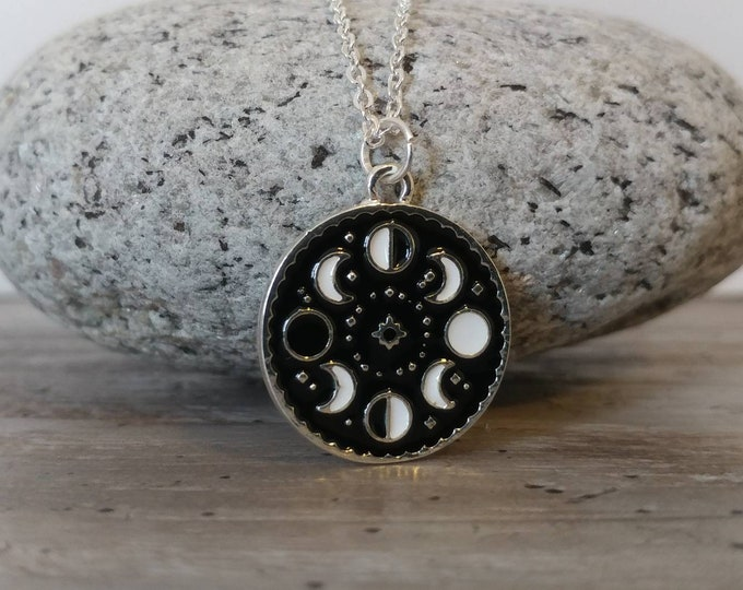 Delicate Silver Moon Phase Necklace, PLease Call for Wholesale Pricing