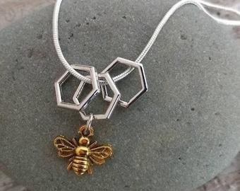 Unique Bee Necklace