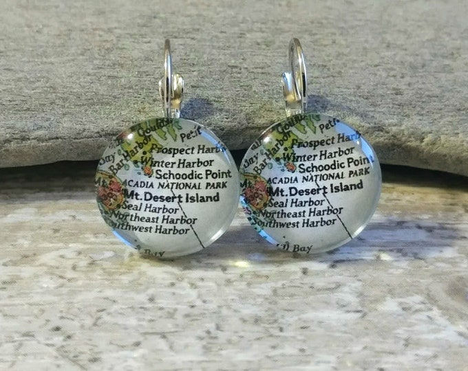 Custom Map Earrings, ME-1- Please call for wholesale pricing