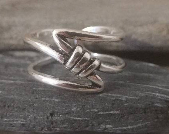 Silver Wave Knot Ring, Call to Unlock Wholesale Pricing