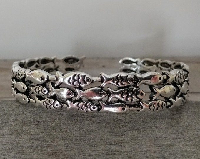 Sterling Layered Fish Cuff, TB-10- Please call for wholesale prices